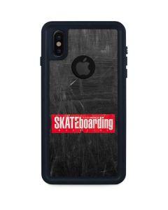 TransWorld SKATEboarding Magazine Chalkboard iPhone XS Waterproof Case