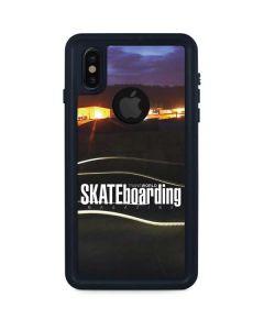 TransWorld SKATEboarding Skate Park Lights iPhone XS Waterproof Case