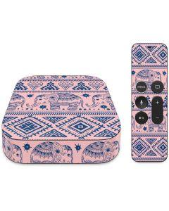 Tribal Elephant Pink Apple TV Skin