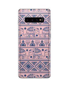 Tribal Elephant Pink Galaxy S10 Plus Skin