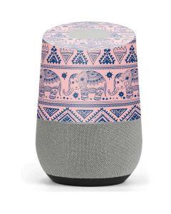 Tribal Elephant Pink Google Home Skin