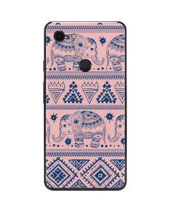 Tribal Elephant Pink Google Pixel 3 XL Skin