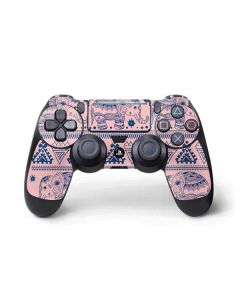 Tribal Elephant Pink PS4 Pro/Slim Controller Skin