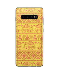 Tribal Elephant Yellow Galaxy S10 Plus Skin