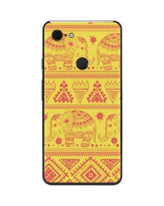 Tribal Elephant Yellow Google Pixel 3 XL Skin