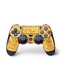 Tribal Elephant Yellow PS4 Pro/Slim Controller Skin