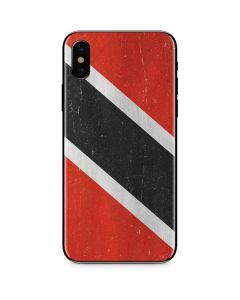 Trinidad and Tobagao Flag Distressed iPhone XS Skin