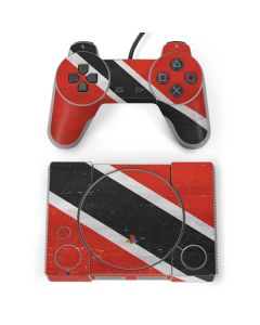 Trinidad and Tobagao Flag Distressed PlayStation Classic Bundle Skin