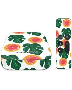 Tropical Leaves and Citrus Apple TV Skin