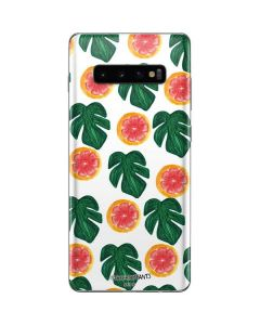 Tropical Leaves and Citrus Galaxy S10 Plus Skin
