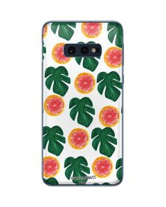 Tropical Leaves and Citrus Galaxy S10e Skin