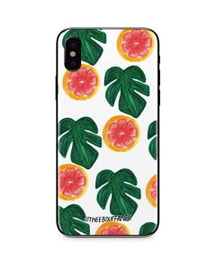 Tropical Leaves and Citrus iPhone X Skin