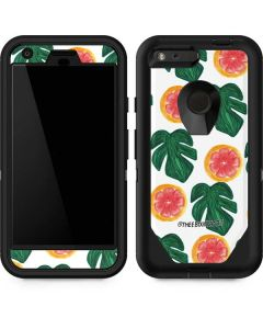 Tropical Leaves and Citrus Otterbox Defender Pixel Skin