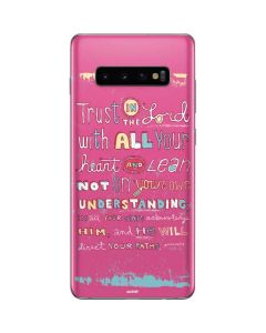 Trust in the Lord Pink Galaxy S10 Plus Skin