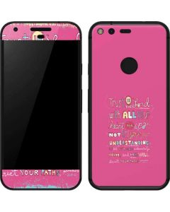 Trust in the Lord Pink Google Pixel Skin