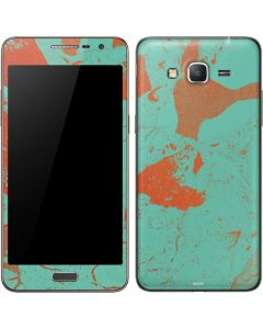 Turquoise and Orange Marble Galaxy Grand Prime Skin