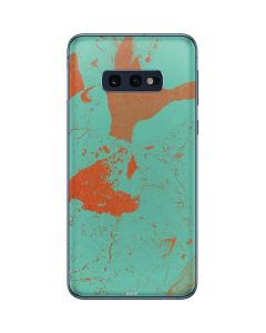 Turquoise and Orange Marble Galaxy S10e Skin