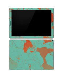 Turquoise and Orange Marble Google Pixel Slate Skin