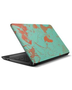 Turquoise and Orange Marble HP Notebook Skin