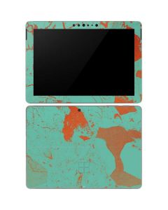Turquoise and Orange Marble Surface Go Skin