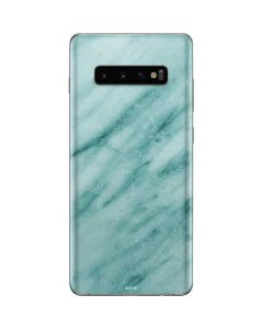 Turquoise Marble Galaxy S10 Plus Skin