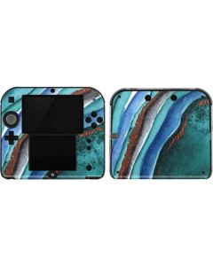 Turquoise Watercolor Geode 2DS Skin