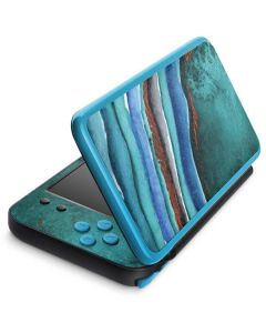 Turquoise Watercolor Geode 2DS XL (2017) Skin