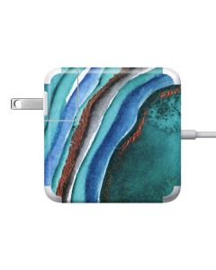 Turquoise Watercolor Geode Apple Charger Skin