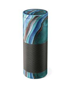 Turquoise Watercolor Geode Amazon Echo Skin