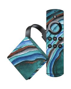 Turquoise Watercolor Geode Amazon Fire TV Skin