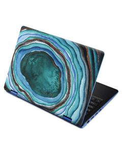 Turquoise Watercolor Geode Aspire R11 11.6in Skin