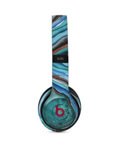 Turquoise Watercolor Geode Beats Solo 2 Wireless Skin