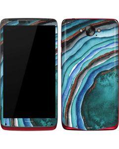 Turquoise Watercolor Geode Motorola Droid Skin