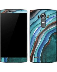 Turquoise Watercolor Geode G4 Skin