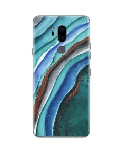 Turquoise Watercolor Geode G7 ThinQ Skin