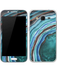 Turquoise Watercolor Geode Galaxy Core Prime Skin