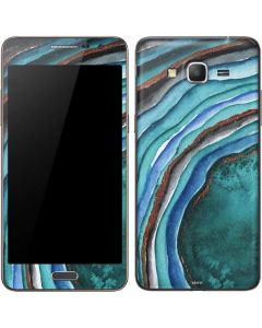 Turquoise Watercolor Geode Galaxy Grand Prime Skin