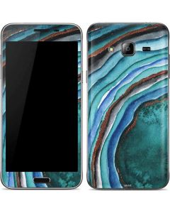 Turquoise Watercolor Geode Galaxy J3 Skin