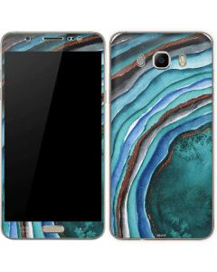 Turquoise Watercolor Geode Galaxy J7 Skin