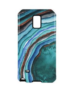 Turquoise Watercolor Geode Galaxy Note 4 Pro Case