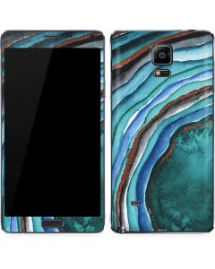 Turquoise Watercolor Geode Galaxy Note 4 Skin