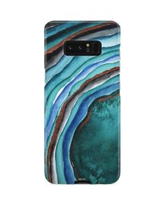 Turquoise Watercolor Geode Galaxy Note 8 Lite Case