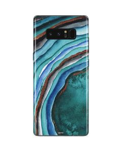 Turquoise Watercolor Geode Galaxy Note 8 Skin