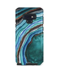 Turquoise Watercolor Geode Galaxy Note 9 Pro Case