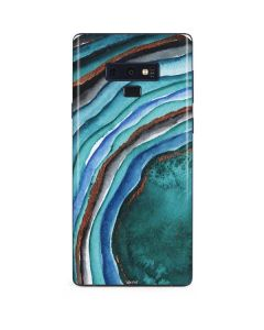 Turquoise Watercolor Geode Galaxy Note 9 Skin