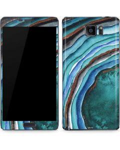 Turquoise Watercolor Geode Galaxy Note5 Skin