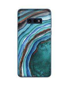Turquoise Watercolor Geode Galaxy S10e Skin