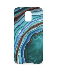 Turquoise Watercolor Geode Galaxy S5 Lite Case