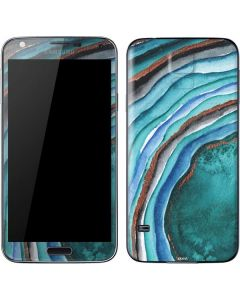 Turquoise Watercolor Geode Galaxy S5 Skin