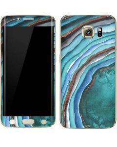 Turquoise Watercolor Geode Galaxy S6 edge+ Skin
